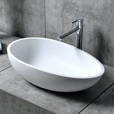 stone resin bathtub matte glossy white solid surface stone resin oval bathroom vessel sink drain included stone resin bathroom