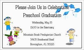 Preschool Graduation Announcements Printable Preschool Graduation Invitation Templates Free
