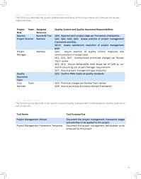 Quality Control Excel Project Management Quality Control Plan Template Elegant Photograph