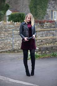 new year festive outfit velvet dress leather