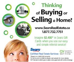 Selling Flyers Sears Certified Real Estate Services Free Gift Cards For Buying
