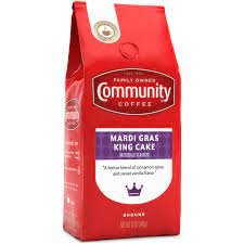 The new community mardi gras king cake, is now available online at communitycoffee.com and in select stores across the american south. Community Coffee Mardi Gras King Cake Ground Coffee Shop Coffee At H E B