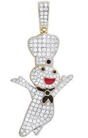 10k yellow gold 2 1 pillsbury dough boy diamond pendant charm