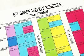 My Weekly Schedule Organizing My Weekly Schedule Eb Academics