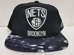 Brooklyn Nets Cap Adidas Flat Brim Black Snapback Hat NBA \u2013 Sports