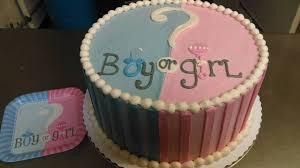 Boy Girl Gender Reveal Custom Cake In Maryland Desserts Wedding