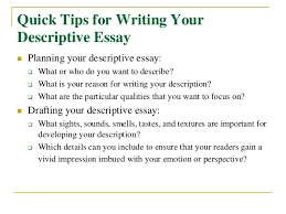 How to write a descriptive essay SlideShare