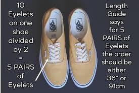 Shoelaces Length Guide Shoelaces Express
