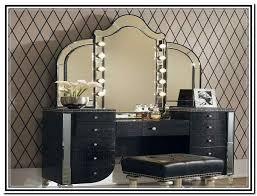 makeup dresser with mirror awesome vintage design black multiple finish wooden vanity table chair set eleven drawers small metal pull handle light