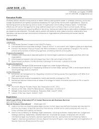 Resume Templates: Chief Legal Officer