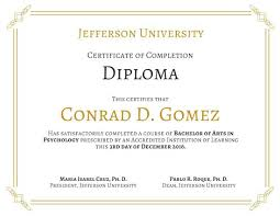 University Diploma Certificate Degree Template Graduation Sample ...