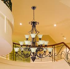 c188 2645 hamilton home oil rubbed bronze finished multi tier chandelier chandeliers lighting with soft vanilla shades good for dining room foyer