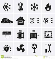 heating cooling icon. royalty-free vector. download heating and cooling icons icon a