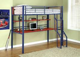 bed with desk underneath ikea furniture metal loft double bunk beds full rolling