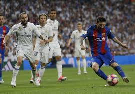 messi gets th career goal for barca in win vs madrid barcelona s lionel messi right scores during the spanish la liga match against real madrid