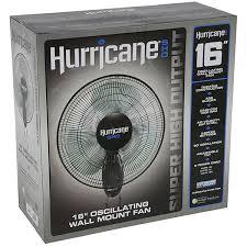 hurricane sho oscillating wall mount fan 16 inch