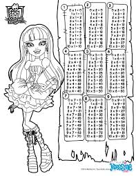 Small Picture Multiplication table monster high coloring pages Hellokidscom