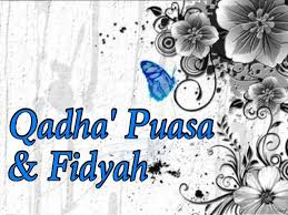 Image result for qadha, fidyah