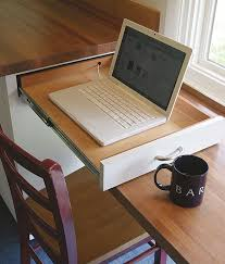 you can even have a laptop drawer on your kitchen