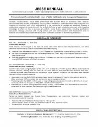 Sample Resume For Sales Staff Medical Sales Resume Examples Objective Inside Engineer Sample 12