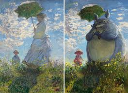 woman with a parasol by claude monet classic paintings