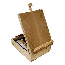 us art supply 62 piece wood box easel painting set including box easel