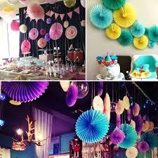 new 5pcs tissue paper fan diy crafts hanging wedding supplies design ideas of indoor birthday party