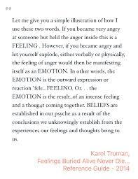 Feelings Buried Alive Never Die Chart Inspiring Quote By Karol Truman From Feelings Buried Alive