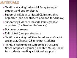 module a unit lesson analyzing the model essay studying  materials to kill a mockingbird model essay one per student and one to display