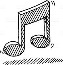 Symbole De Dessin De Notes De Musique Cliparts Vectoriels Et