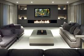 modern living room furniture sets fireplace gray fabric sofa cushions rectangle coffee table