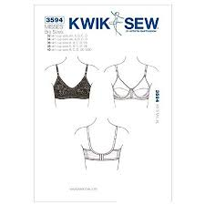 Bra Sewing Patterns Mesmerizing Kwik Sew K48 Bra Sewing Pattern Size 48 With Cup Sizes Aa By KWIK