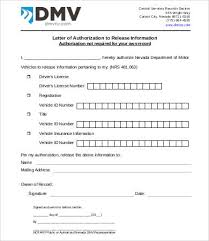 Sample Letter To Dmv Letter Of Authorization 11 Free Word Pdf Documents