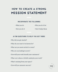 How To Create A Strong Mission Statement For Your Business An