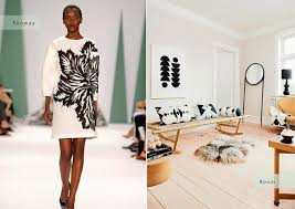 trends in furniture. inspired by spring 2015 fashion trendscarolina herrera_black and white graphic prints trends in furniture