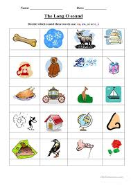 There are 80 pages of free phonics worksheets in total which can be done daily, weekly, or at any rate that suits the curriculum it's being used with. Long O Worksheet English Esl Worksheets For Distance Learning And Physical Classrooms