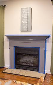 mantle paint makeover