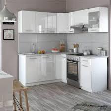 Winkelküche 190 X 170 Cm   Weiß Hochglanz   Küchenzeile L Form R Line  Einbauküche Weiss Küche