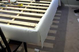 diy upholstered bed. Adding Linen Fabric To A Diy Upholstered Queen Bed O