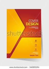book cover design vector template in a4 size annual report abstract brochure design