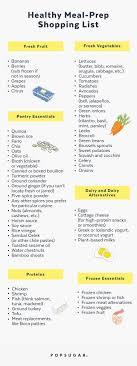 Grocery Checklist Healthy Meal Prep Shopping List Popsugar Fitness
