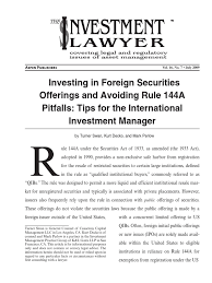 Qibs Investment Lawyer Swan Securities Act Of 1933 Initial