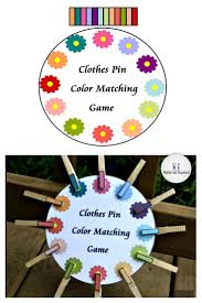 Flower Clothes Pin Color Matching Game Nuttin But Preschool