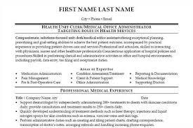 Unit Clerk Resume Samples Fast Lunchrock Co Free Creative Resume