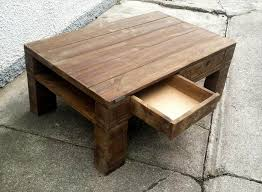 diy wood pallet coffee table with drawers