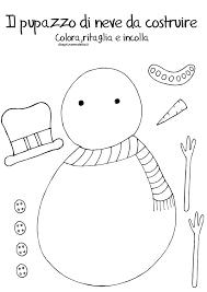 Disegno Da Montare E Colorare Pupazzo Di Neve Disegni Mammafelice