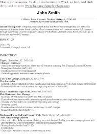 Bartender Resume Objective Best Of Sample Bartending Resume Eukutak