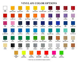651 Color Chart Vinyl Color Options Chart For Store Owners Color Mockups Oracal 631 651 751 Digital Download