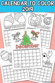 Printable Kids Printable Calendar For Kids 2019 Itsy Bitsy Fun