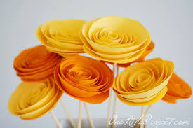 Easy Paper Flower How To Make Rolled Paper Flowers